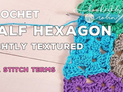 How to Crochet Half Hexagon motif and join as you go (JAYG)