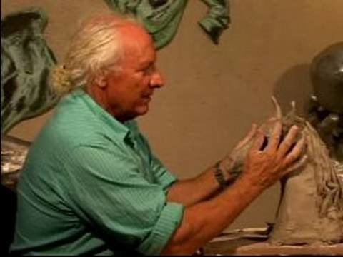 How to Make a Horse Head Sculpture : Sculpting the Ears of a Horse Head