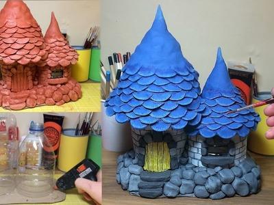 How To Make a Terracotta Clay Fantasy Mushroom House , Fairy Mushroom Castle