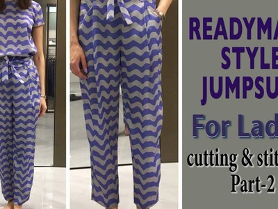 Jumpsuit cutting and stitching for Ladies part-2