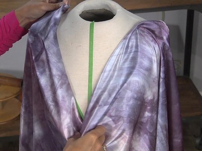 Learn How to Drape a Cowl Neckline on the BIAS DIY
