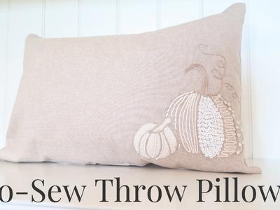 No Sew Throw Pillows | Fall Home Decor
