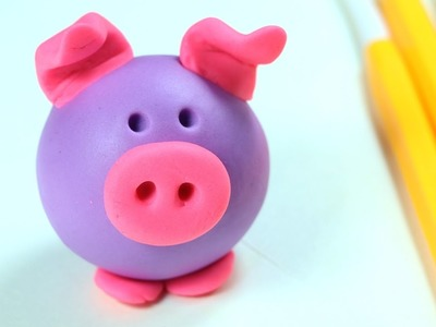 Play Doh - Clay Pig Making Step by Step