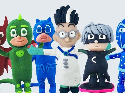 PLAY DOH PJ MASKS ALL CHARACTERS LEARN COLORS | DIY | How to Make Pj Masks Characters with Play Doh