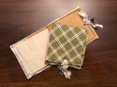 TUTORIAL - Easy Fabric and Felt Notebooks Gift Card Holders