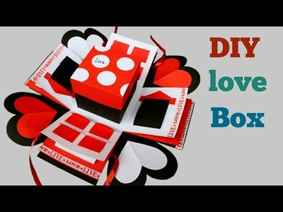 Valentine's Day Box | Explosion Box Tutorial | How to make Explosion Box |