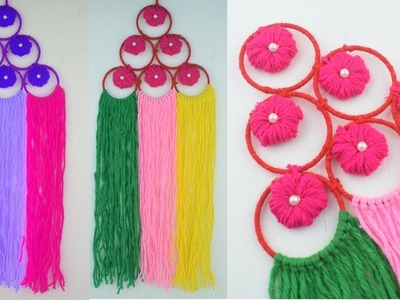 Wall Hanging Design Idea Out of Wool | Wall Hanging Design For Home Decor | Bangles Wall Toran DIY