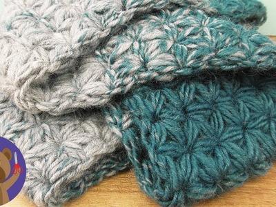 Winter Scarf Pattern ???? Star or Flower Pattern ???? One Spool One Scarf | Loop DIY