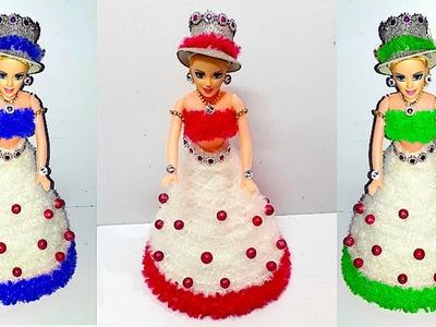 Woolen Doll Dress.Doll Cloth Making Idea |DIY Easy doll decoration ideas