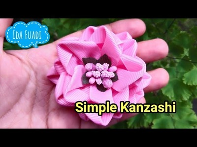 162) Tutorial simple kanzashi flower
