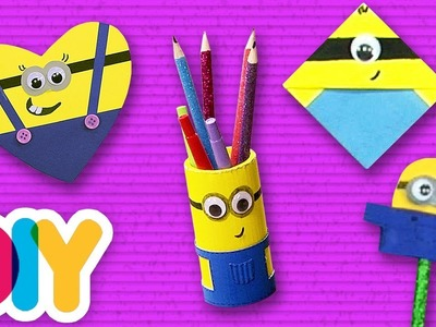 4 Amazing MINION CRAFTS to do at home for toddlers | Fast-n-Easy | DIY Arts & Crafts