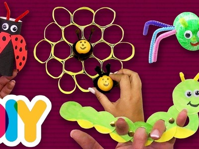 4 EASY Bugs Crafts you can do with your kid | Fast-n-Easy | DIY Arts & Crafts
