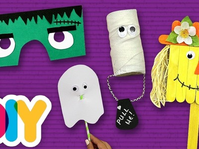 4 Halloween ???? ???? Crafts you can do with your kids | Fast-n-Easy | DIY Arts & Crafts