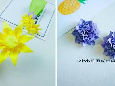 5 Easy Flowers Crafts - DIY Origami Easy