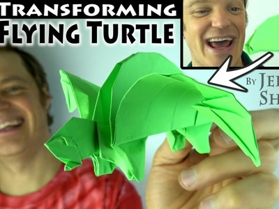 Amazing Transforming Turtle! Pull-the-Tail Flapping Tortoise!