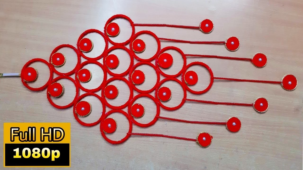 Bangle wall hanging | bangle craft wall hanging |  diy projects for home | decoration ideas for room