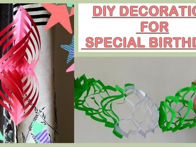 BIRTHDAY DECORATION IDEAS AT HOME,BIRTHDAY PARTY DECORATION