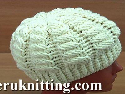 Crocheted Wave Pattern Hat Tutorial 245