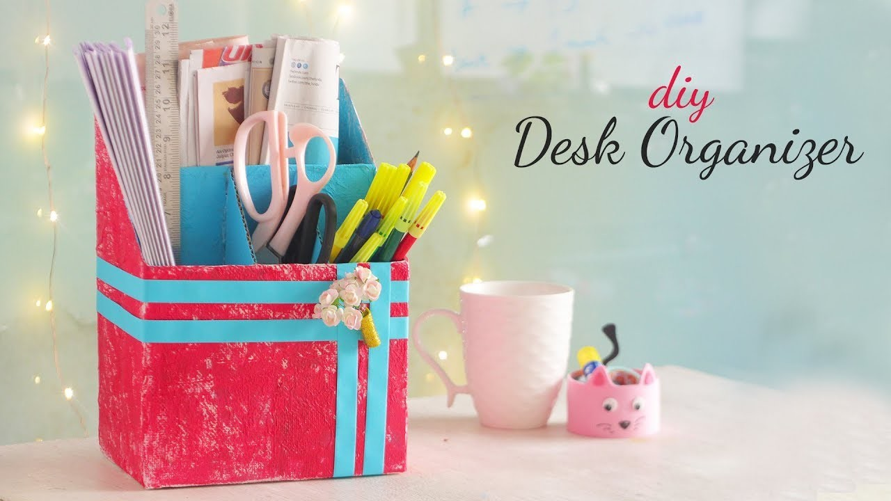 DIY Desk Organization   Desk Decor   Room Decor