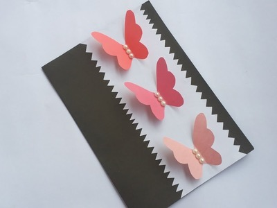 DIY: Handmade Birthday Card!! How to Make Beautiful Paper Card for valentine.Greeting. Birthday!!