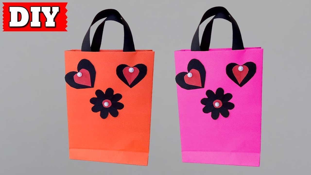 ►► DIY: How To Make Bag With Paper Easy Step By Step | Lovely Easy Crafts
