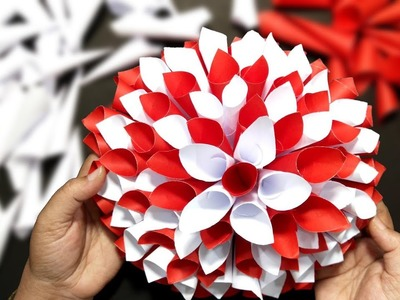 DIY Paper Flower - Easy to Make Handmade Paper Puffy Flower