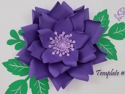 DIY Paper Flower || Flower Templates #001 || DIY Decor