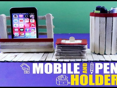 DIY POPSICLE IDEA FOR STUDY | TABLE HOLDER | 5 MINUTE CRAFTS VIDEOS