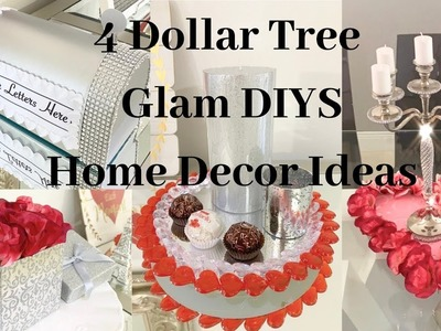 Dollar Tree 4 DIY GLAM Valentines Home Decor Ideas 2019