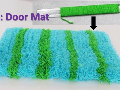 Door mat making with wool || DIY Rugs || Genius craft idea #cool craft idea