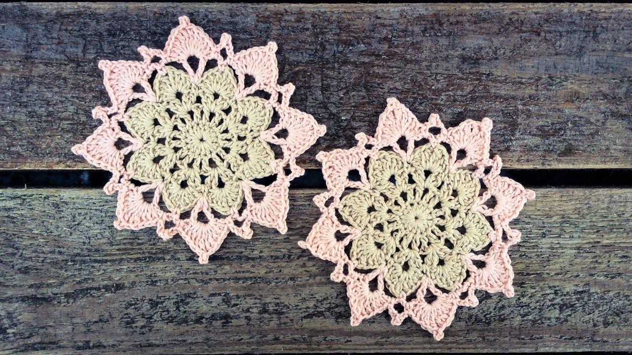 Easy Crochet Flower Coaster Tutorial