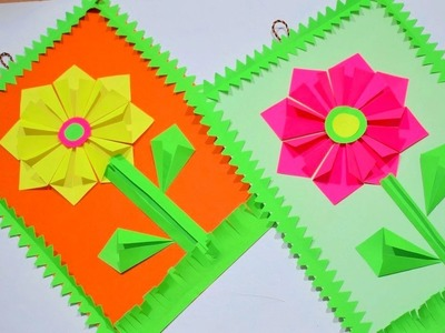 Easy handmade wall Hanging to decor your Room   DIY home decor ideas   Paper flower craft