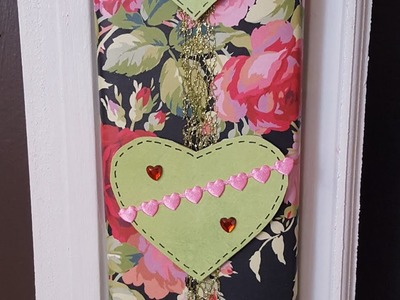 From Cardboard to Valentine's Day Wall Hanging