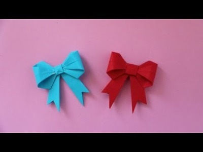 How to make a paper Bow.Ribbon | DIY paper crafts | Easy Origami step by step tutorial