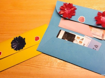 How to make a paper wallet.Origami wallet.Easy origami By Yanin Craft