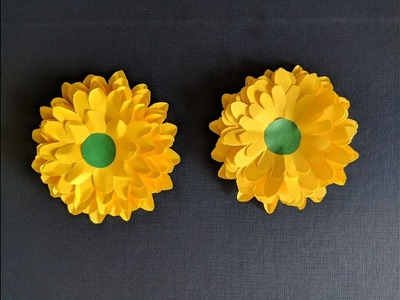 How to make beautiful flower with paper | paper flower | creative corner