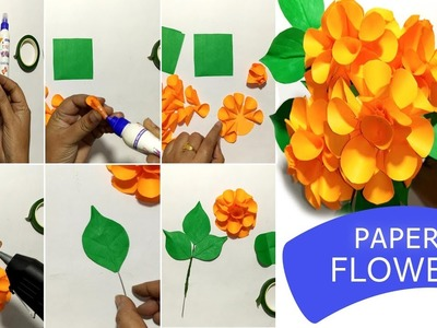 How to Make Beautiful Paper Flower - DIY Paper Flower Step by Step Tutorial
