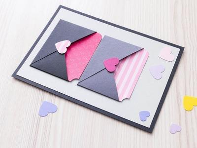 How to make : Cute Valentine with Pockets | Walentynka z Kieszonkami - Mishellka #335 DIY