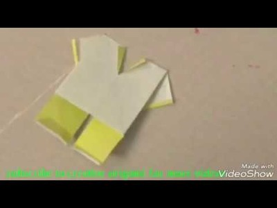 How to make origami kids dress