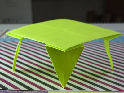 How to make origami  table