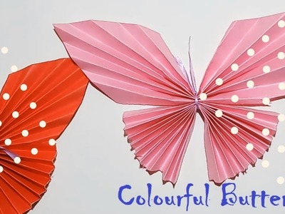 How To Make Realistic Butterfly By  Colouring Paper|DIY Paper Butterfly An Incredibly Easy Method