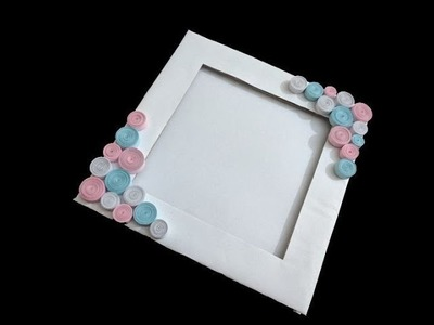 How to make simple paper photo frame | paper quilling | creative corner