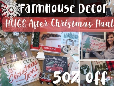Huge After Christmas Haul | Farmhouse Christmas Decor | Walmart, Meijer,  Kohls and Target Haul