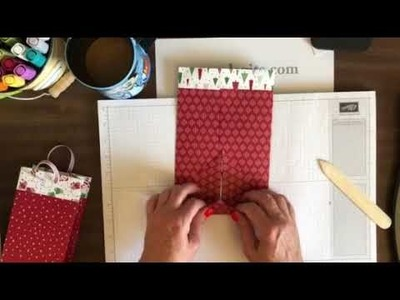 No-measure Gift bag from 12x12 paper