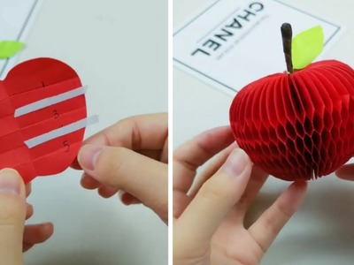 Origami Fruit: How to Make a Apple Fruit With Paper - Origami Easy
