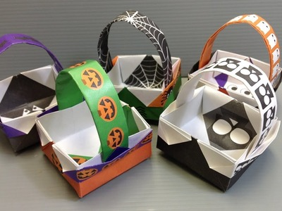 Origami Halloween Basket - Print Your Own Paper!
