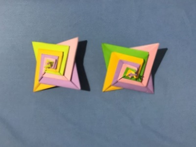 Origami-How to make Spiral Sta paper-cclm paper