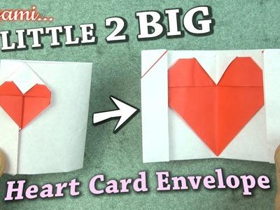 Origami Little 2 BIG Heart Card Envelope
