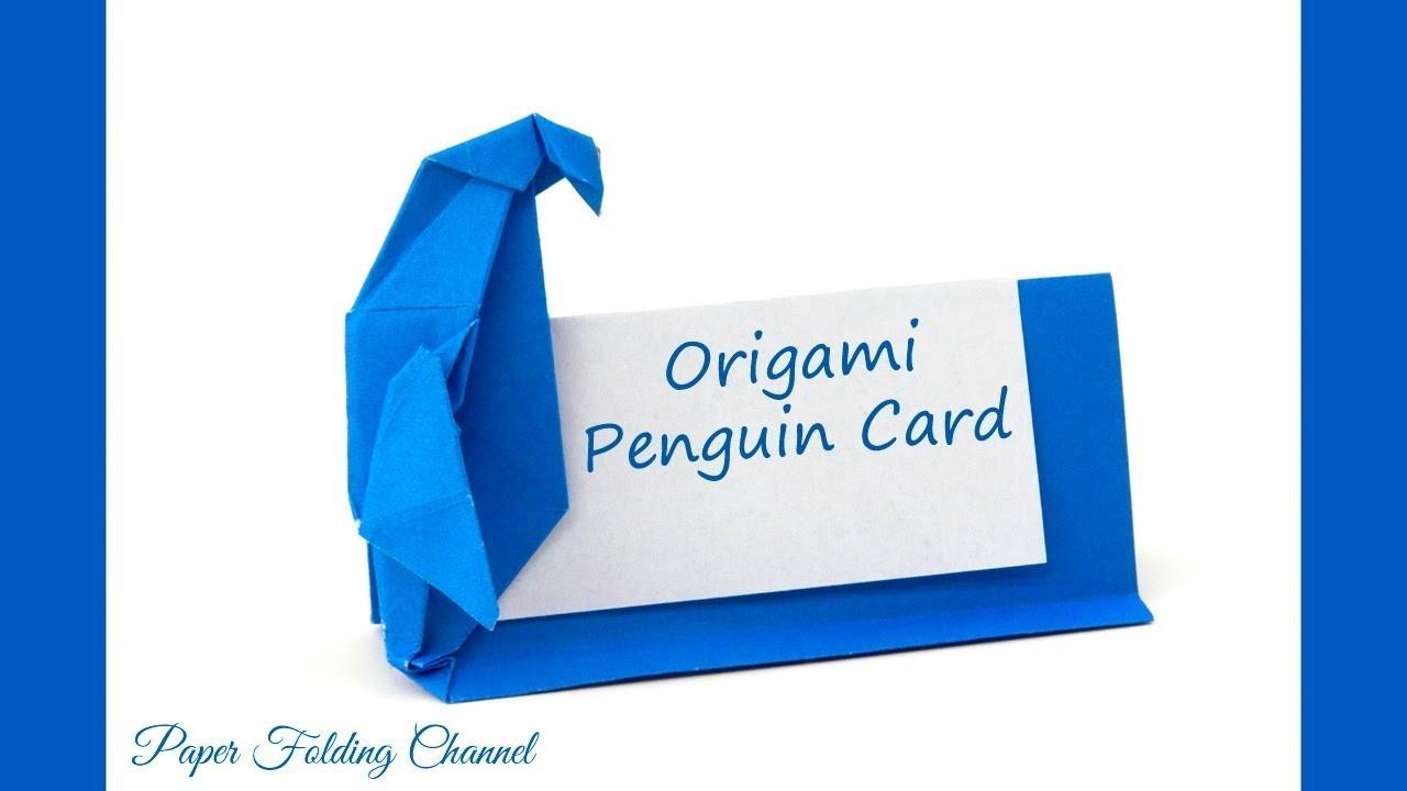 Origami Penguin Card