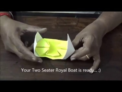 ORIGAMI TWO SEATER ROYAL BOAT